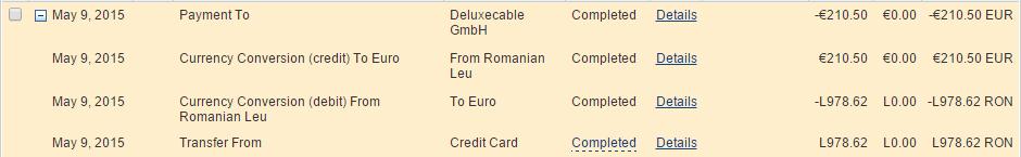 Conversie PayPal
